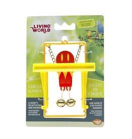 Bird (D) Living World Circus Bird Toy with Monkey Bar - Red