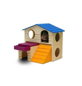"Small Animal Living World Playground Play House - Large - 16.5 x 16.5 x 15 cm (6.5 x 6.5 x 5.9"")"