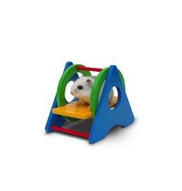 "Small Animal (W) Living World Playground Swing - 8.5 x 12.5 x 9.5 cm (3.3 x 4.9 x 3.7"")"
