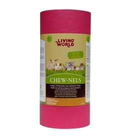 Small Animal Living World Colourful Cardboard Chew-nels with Nesting material - Medium