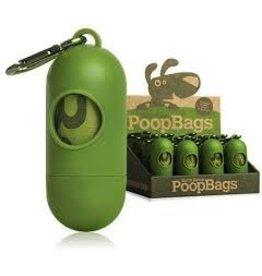 Dog & cat Poop Bags Green Dispenser