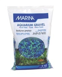 Aquaria MA Dec.Aqua.Gravel Tri Color Blue-2kg-V