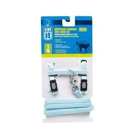 Dog & cat CA Aj. Harness and Leash Set, Blue, S-V