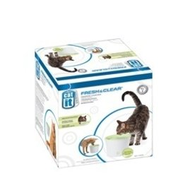 Dog & cat (W) CA Des. Fresh & Clear Fountain,3L-V