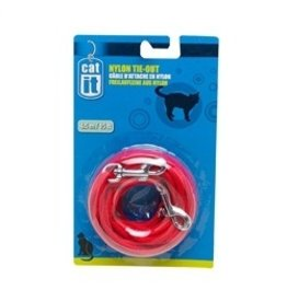 Dog & cat (W) CA Nyl. Tie-out, 3m (10 ft), Red-V