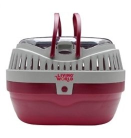 Small Animal (W) LW Carrier, Large, Red/Grey