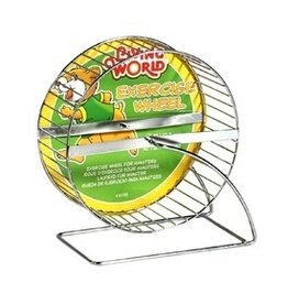 Small Animal (D) LW Chrome Hamster Wheel 7in-V