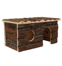 "Small Animal (W) Living World Tree House Real Wood Cabin - Large - 41 cm (16"") L x 24 cm (9.5"") W x 23 cm (9"") H"