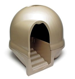 Dog & cat (W) PA DOME CLNSTEP CAT BOX TITANIUM
