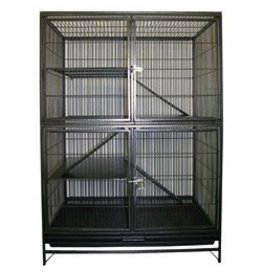 Small Animal (W) Living World Ferret Cage Knockdown Style - Hammertone Grey