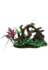 Aquaria (D) Marina Twisted Driftwood with Rock on Base of Plants - Medium