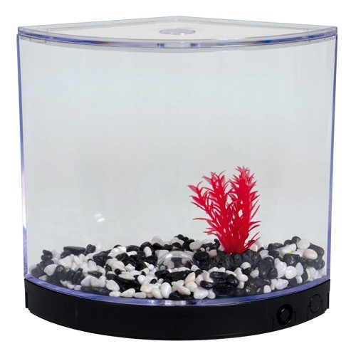 Aquaria BettaArc LED Betta Kit - Black - 1.2 L