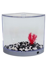 Aquaria BettaArc LED Betta Kit - Silver - 1.2 L