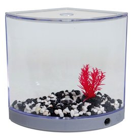 Aquaria BettaArc LED Betta Kit - Silver - 1.2 L