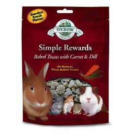 Small Animal (D) OXBOW Simple Rewards Baked Treat Carrot & Dill