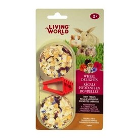 Small Animal Living World Wheel Delights - Passion Fruits/Flowers - 2-pack