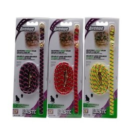Dog & cat (D) Avenue Adjustable Vibrant Nylon Cat Collar/Lead Set