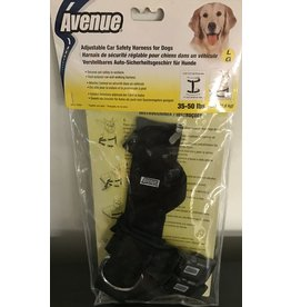 Dog & cat (D) Ave Safety Harness Larg Black