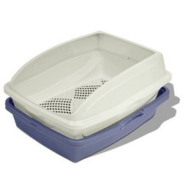 Dog & cat (W) Van Ness Sifting Cat Pan Framed (CP5)