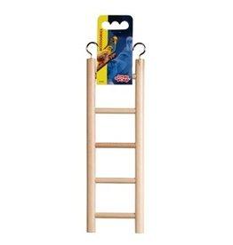 """Bird Living World Wooden Bird Ladder - 5 Steps - 25 cm (5.5"""") Long"""
