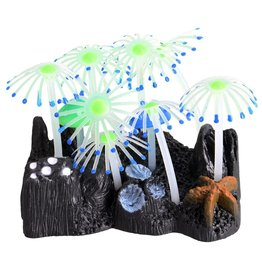 Aquaria Glowing Mushroom Garden - Blue