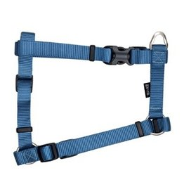 "Dog & cat Zeus Nylon Dog Harness - Denim Blue - Large - 2 cm x 45-70 cm (3/4"" x 18""-27"")"
