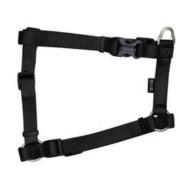 "Dog & cat Zeus Nylon Dog Harness - Charcoal - Large - 2 cm x 45-70 cm (3/4"" x 18""-27"")"
