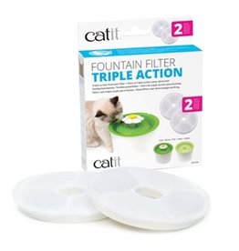 Dog & cat Catit Triple Action Fountain Filter - 2 pack