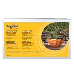 Pond (D) Laguna Urban Water Garden Bowl, Orange Honeycomb, 51 x 24.5cm (20-Inch x 9.5-Inch) (LC)