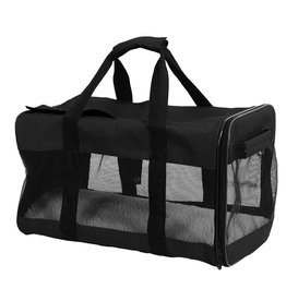 Dog & cat (W) Treasures Travel Pet Carrier - Black