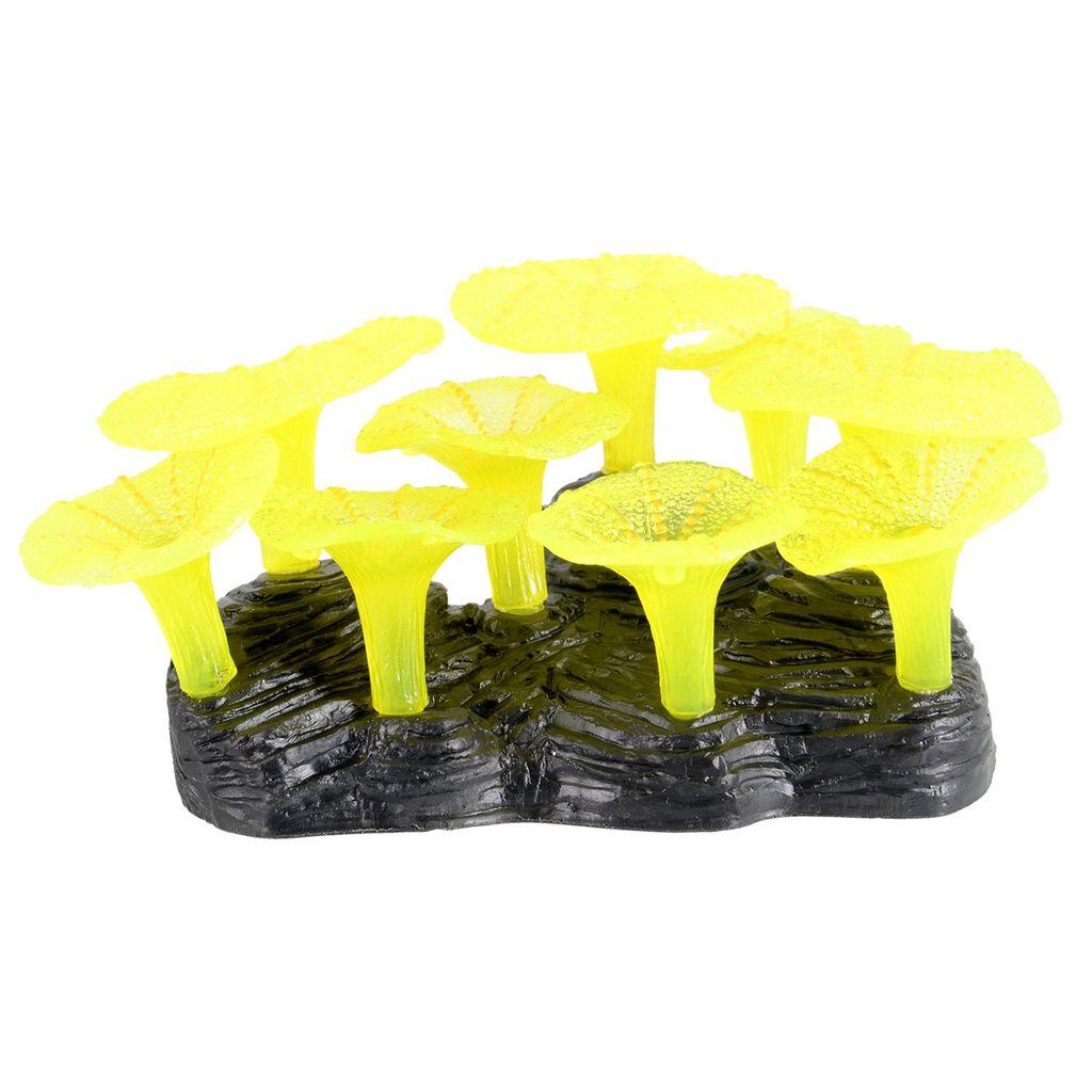 Aquaria Glowing Mushroom Reef - Yellow