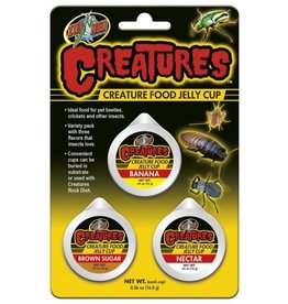Reptiles Zoo Med Creatures Creature Food Jelly Cup - 3 pk
