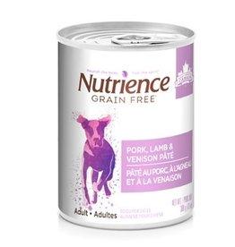 Dog & cat Nutrience Grain Free Pork, Lamb & Venison Pâté - 369 g