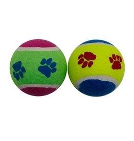 "Dog & cat (W) Dogit Paw Prints Tennis Balls - 10 x 7 cm (4"" x 2.8"")"