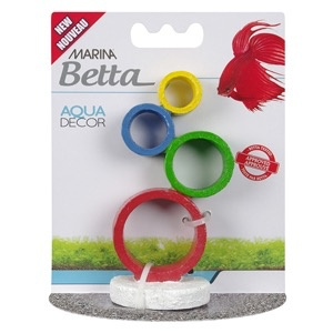 Aquaria Marina Betta Aqua Decor Ornament - Circus Rings