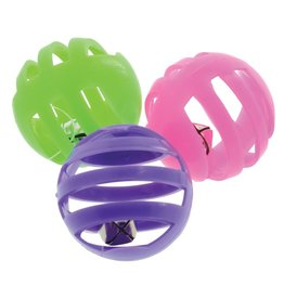 Dog & cat PP PLASTIC BALL W/BELL