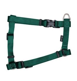 "Dog & cat Zeus Nylon Dog Harness - Forest Green - Large - 2 cm x 45-70 cm (3/4"" x 18""-27"")"