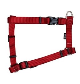 "Aquaria Zeus Nylon Dog Harness - Deep Red - XLarge - 2.5 cm x 61-100 cm (1"" x 24""-39"")"
