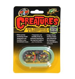 Reptiles Zoo Med Creatures Dual Thermometer & Humidity Gauge