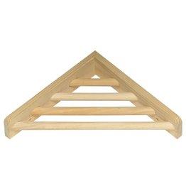 "Bird (W) Prevue Hendryx Wood Corner Shelf - 7"""