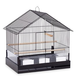 "Bird (W) PH Lincoln Bird Cage - Black - 22"" x 15"" x 23"""