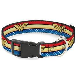 Dog & cat (W) Wonder Woman Logo Collar - Large