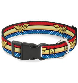 Dog & cat (W) Wonder Woman Logo Collar - Small