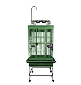 """Bird (D) Playtop Cage - 5/8"""" Bar Spacing - Green - 18"""" x 18"""" x 54"""""""