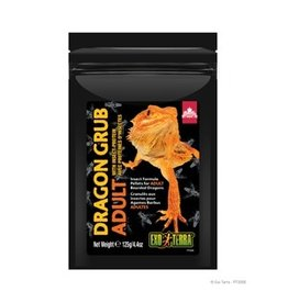 Reptiles Exo Terra Dragon Grub Insect Formula Pellets for Adult Bearded Dragons - 125 g (4.4 oz)