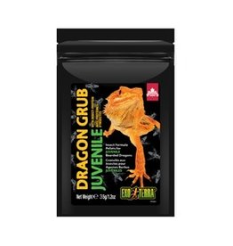 Reptiles (D) Exo Terra Dragon Grub Insect Formula Pellets for Juvenile Bearded Dragons - 35 g (1.2 oz)