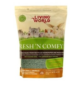 Small Animal (W) Living World Fresh 'N Comfy Bedding - 10 L (610 cu in) - Green