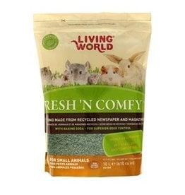 Small Animal (W) Living World Fresh 'N Comfy Bedding - 10 L (610 cu in) - Green