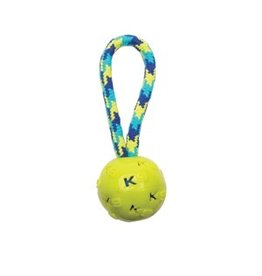 Dog & cat K9 Fitness by Zeus Ball Tug with TPR ball encasing tennis ball - 22.86 cm (9 in)