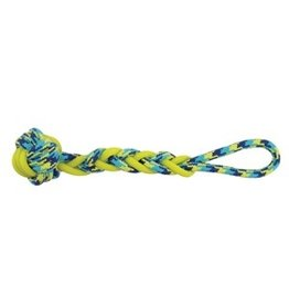 Dog & cat K9 Fitness by Zeus Rope and TPR Ball Tug - 40.64 cm dia. (16 in dia.)